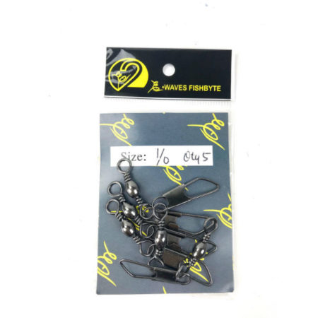 E-Waves Barrel Swivel with Snap Size 1/0 5pcs Triangle shape